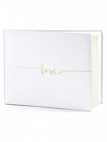 Livre d'or blanc Love 24 x 18 cm