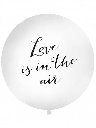 Ballon latex géant blanc Love is in the air 1 mètre