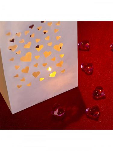 10 Lanternes en papier de sol Petits coeurs-2