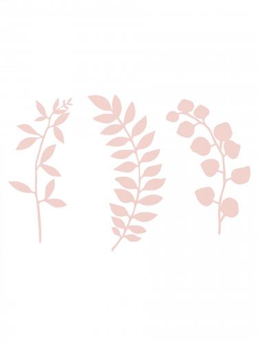 9 Décorations de table feuilles roses