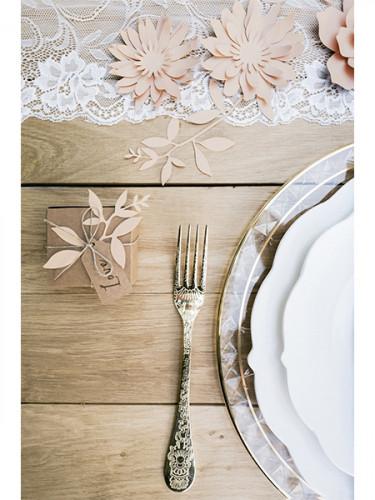9 Décorations de table feuilles roses-1