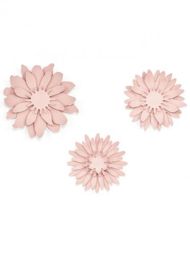 3 Fleurs en papier roses-1