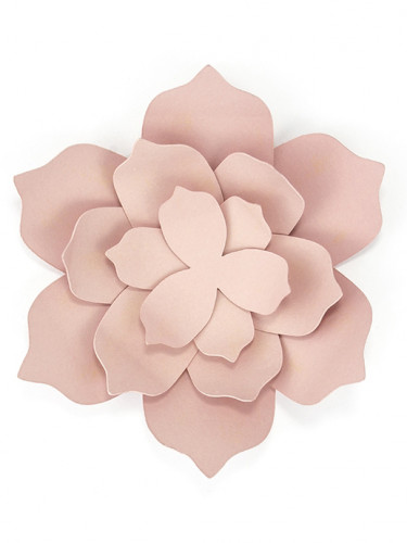 3 Fleurs en papier roses 10 cm-1