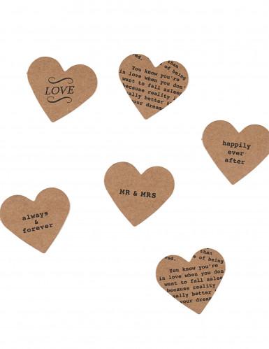 Confettis de table cœurs en kraft 3 g
