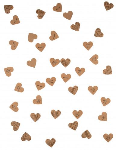Confettis de table cœurs en kraft 3 g-1