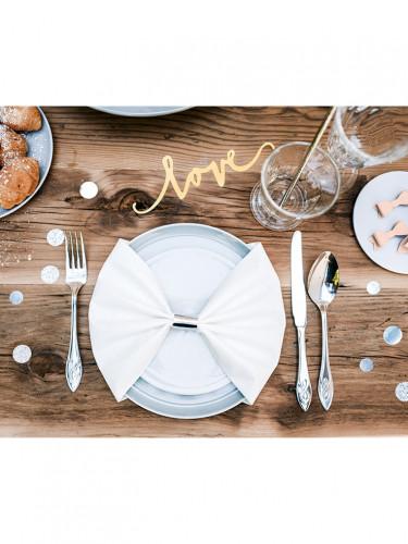6 Décorations de table Love or 20 cm-1
