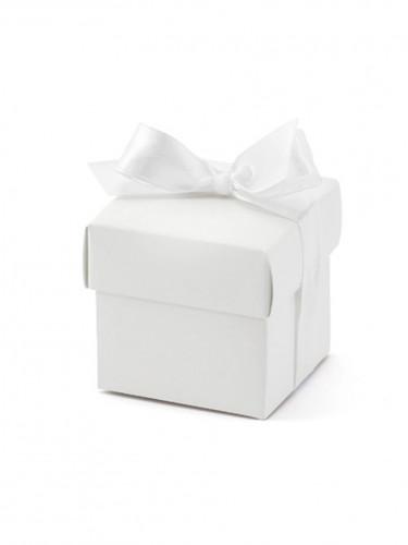 10 Boîtes blanches avec ruban