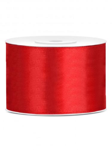 Ruban satin rouge  5 cm x 25 m