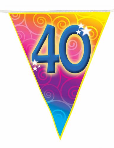 Guirlande fanions âge 40 ans 5 m-1