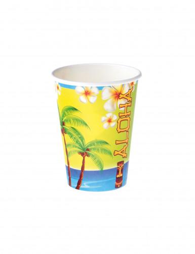 8 Gobelets en carton Aloha 25 cl