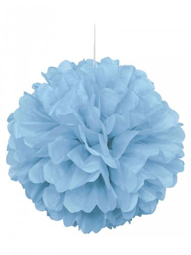 Pompon bleu pastel en papier 40 cm