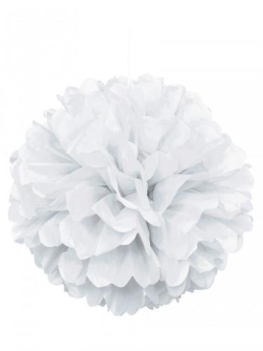 Pompon blanc en papier 40 cm