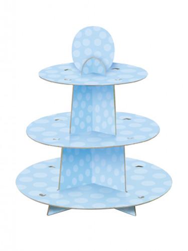 Présentoir à gâteaux bleu 34 x 30 cm