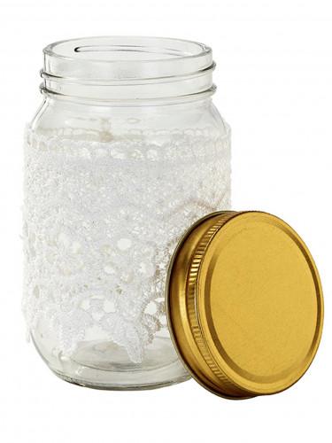 Pot en verre avec dentelle 13 cm