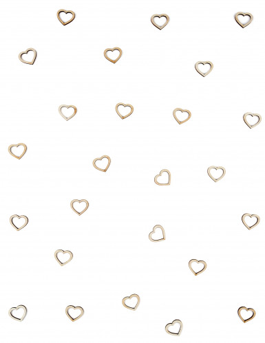 Confettis de table bois coeurs-1