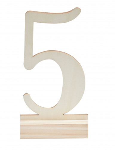 12 Chiffres marque-tables en bois