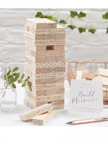 Livre d'or jeu de construction en bois-1