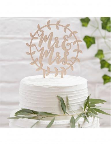 Décoration gâteau cercle Mr & Mrs-1