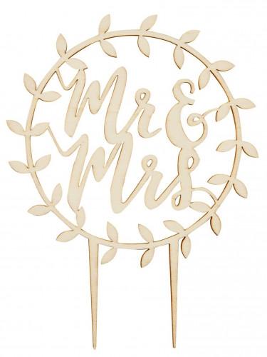 Décoration gâteau cercle Mr & Mrs