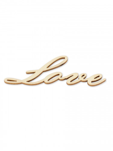 4 Confettis de table en bois Love 10 x 3,5 cm-1