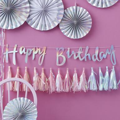 Guirlande Happy Birthday Iridescent 1,5 m-1