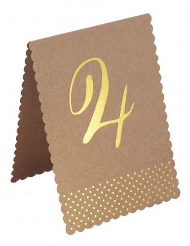 12 Marques-place kraft et doré