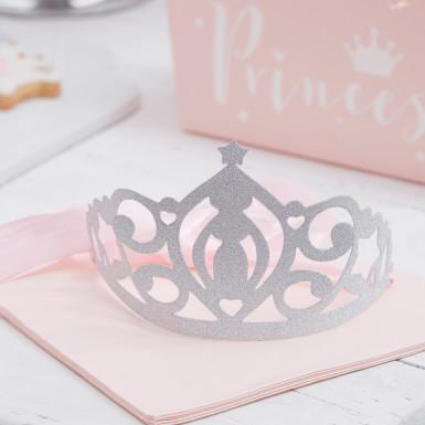 5 Diadèmes de princesse argentés-1