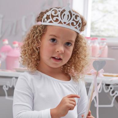5 Diadèmes de princesse argentés-2