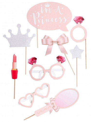 Kit photobooth 9 pièces Princesse