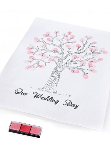 Arbre à empreintes souvenir mariage