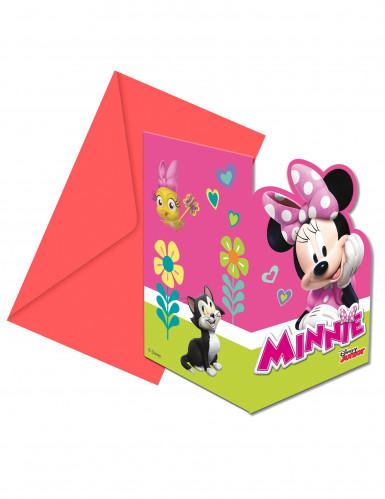 6 Invitations + enveloppes Minnie Happy ™
