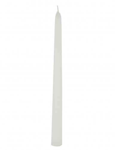 Bougie chandelle blanche 24,5 x 2,2 cm
