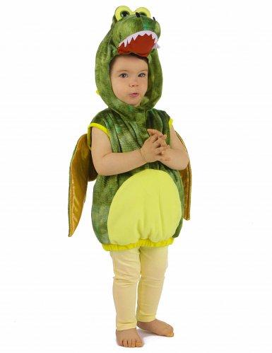 Déguisement dinosaure vert enfant-7