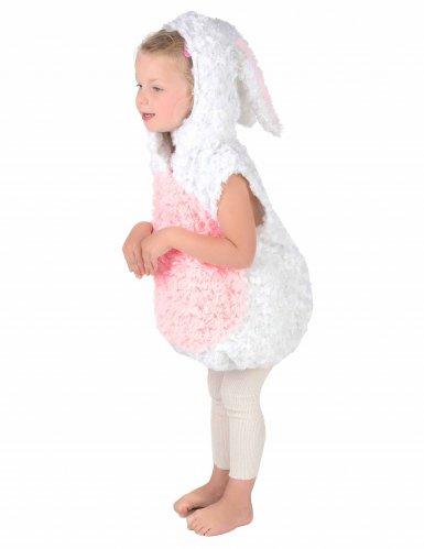 Déguisement lapin blanc et rose enfant-2