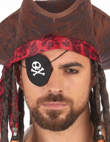 Cache oeil pirate feutrine adulte-1