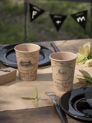 10 Gobelets en carton kraft viticole 200 ml-1
