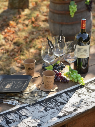 10 Gobelets en carton kraft viticole 200 ml-2