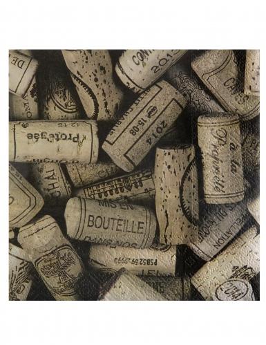 20 Serviettes en papier viticole 33 x 33 cm