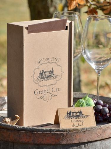 Tirelire en bois viticole 25 x 15 x 7 cm-1