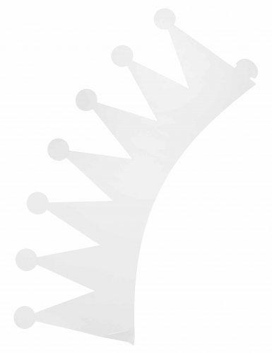 6 couronnes blanches papier personnalisables enfant