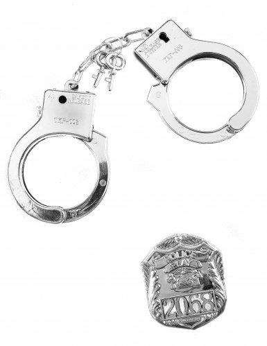 Kit policier badge et menottes adulte et enfant