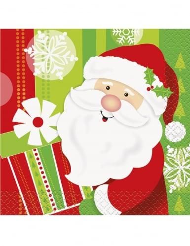 16 petites Serviettes en papier Petit Père Noël 25 x 25 cm