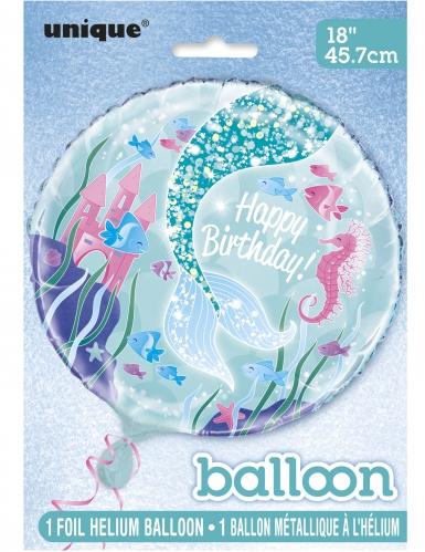 Ballon aluminium jolie sirène 45,7 cm-1