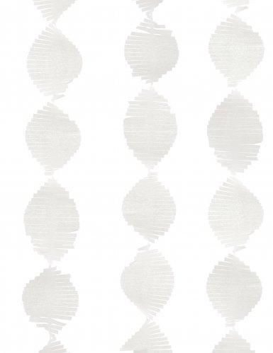 Guirlande à franges en papier blanche 2,74 m