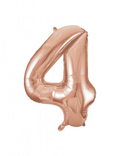 Ballon aluminium rose gold chiffre 4 86,3 cm