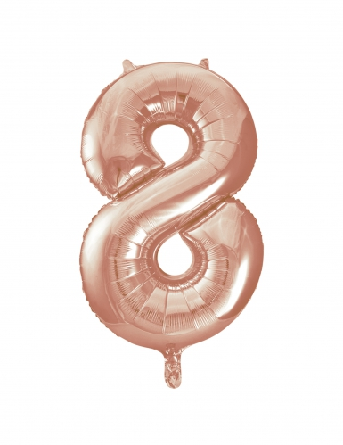 Ballon aluminium rose gold chiffre 8 86,3 cm