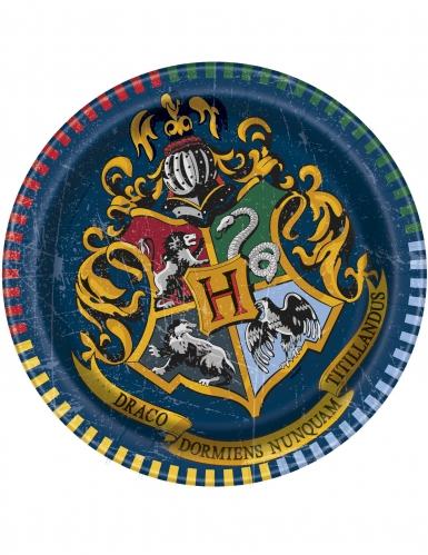 8 Petites assiettes en carton Harry Potter ™ 18 cm