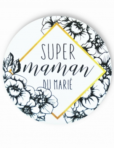 Badge épingle Maman du marié 56 mm