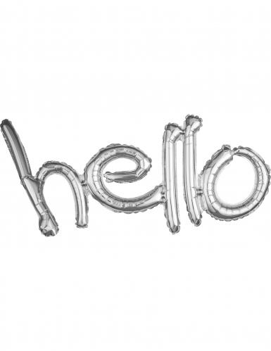 Ballon aluminium Argent Hello 83 x 45 cm
