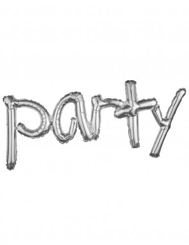 Ballon aluminium Argent Party 93 x 40 cm
